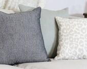 Schumacher Iconic Leopard in Linen - Designer Pillow Cover - Greige & Ivory Animal Print Linen Pillow Cover - Decorative Leopard Pillow