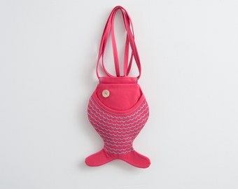 Fish Purse Hot Pink Bag Hipster Bag Beach Bag Kawaii Summer Bag Funny Bag Cute Bag Small Bag Beach Party Tropical Fish Christmas Gifts