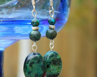 Southern Seas ~ Gemstone Dangle Earrings, Turquoise, Blue, Green, Teal, Summer, Beach, Ocean