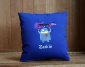 Personalized Robot Nursery Pillow
