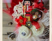 Clara's Dream Nutcracker OTT Boutique Feather Fascinator Headband Christmas Holidays Dramatic Must See RTS OOAK 2T-Adult