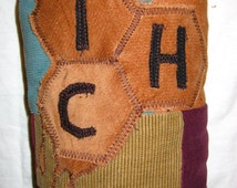Patchwork Corduroy Bubbler or Rig Bag with THC honey comb applique