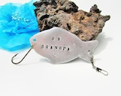 Grandpa Fishing Lure, Personalized Fish hook, Fisherman Gift, Personalized Fishing Lure, Gifts for Grandpa, Customized Fishing Hook