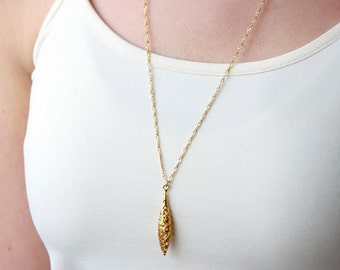 Gold necklace, everyday necklace, delicate necklace, long necklace, gold filled necklace, drop necklace, long gold necklace