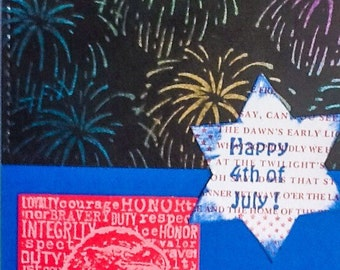 Happy 4th of July Celebration - Fireworks - Red White and Blue - Patriotic - Eagle - perfect pearls - Stampin Up handmade cards