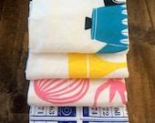 4 Cotton Flour Sack Tea Towels Multipack: DISCONTINUED PRINTS