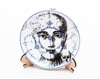 Printed vintage plate - Limited edition