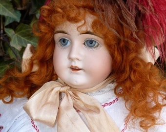 Old Antique Victorian German Bisque Head Kestner Doll With Rare Square Cut Carved Teeth ~ Early Number Series Model
