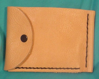 Simple, Thin, Inexpensive LEATHER Wallet - L097, L098, L099, L100