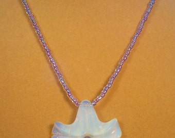 """Lovely 18"""" Lilac and Opalite necklace - N317"""