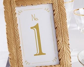 Gold  Table Number Frame - Wedding Decoration; Table Number Frames; Placecard Holders; Wedding Favors