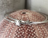 Sterling Silver Starfish Sand Dollar Bangle Bracelet Stacking Bracelets by ShesSoWitte