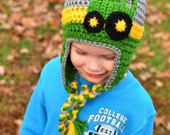 Deere Infant Hat Crochet Pattern : John deere hat Etsy