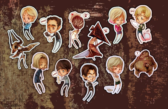 Shy: Silent Hill Stickers