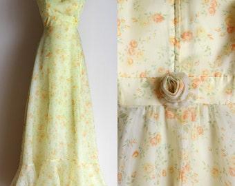 X long prom dresses 70s style