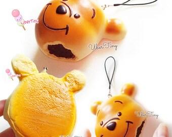 Pooh Bitten Chocolate Bun Squishy