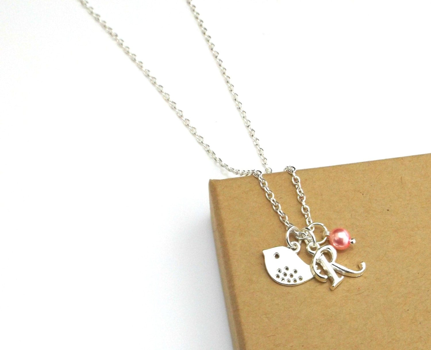 bridesmaid necklaces bird necklace initial necklace
