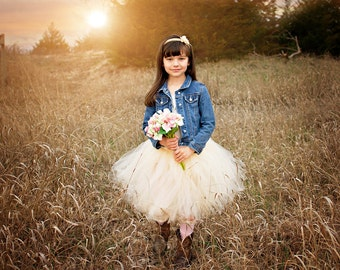 Flower Girl Skirt | Ivory Tutu Flower Girl Skirt | Ivory Tutu | Flower Girl Tutu | Wedding Tutu Skirt | Flower Girl Skirt