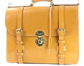 Traditional Classic Lawyer Briefcase Authentic English Bridle Leather