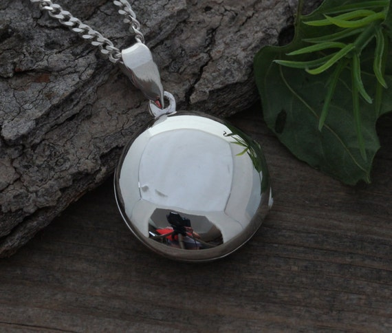 Sterling silver locket round locket mens locket leather like this item aloadofball Gallery