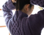 Celtic sweater  - Wool & Alpaca - Blue / purple - size S - other sizes and colours made to order - free shipping worldwide