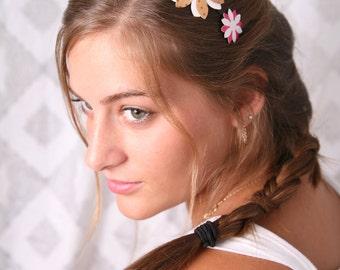 Flower headband, Gift for a girl, Hair accessory, Girls gifts, Pink headband, Gift for her, Gifts for girls, Girls headbands, Women headband