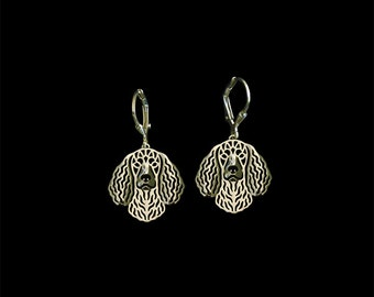 American Water Spaniel earrings - Gold