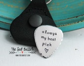 Personalized Guitar Pick Keychain | Hand Stamped Guitar Pick | Personalized Keepsake Gift | Musician Gift | Guitar | Music | Gift for Him