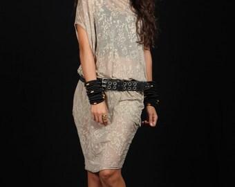 Asymmetrical dress, twist tunic, one size dress , transparent dress, loose dress, free size dress, printed dress, fashion 2016