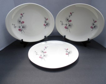 Canonsburg Wild Clover Pattern Medium Oval Tabbed Platter  - 1960s (3 available)