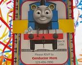Thomas the Train Invitation | Thomas the Train Birthday Invite | Train Birthday Invitation | Thomas and Friends