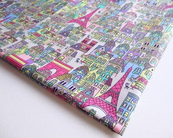 Eiffel Tower Fabric, Paris Building, House, Europe Architect, tourist attraction, Dress, Baby, handmade bag, Lady blouse, Pillow cover CT346