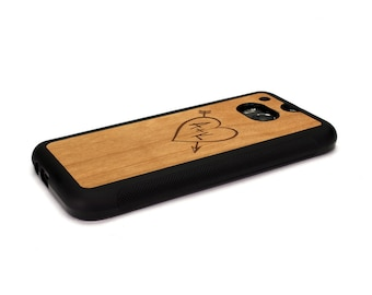 HTC One M8 Case Wood Carved Heart Custom, Htc One Case Wood Htc One Case, Htc One Wood Case Wood Htc One M8 Case Htc One m8 Wood Case