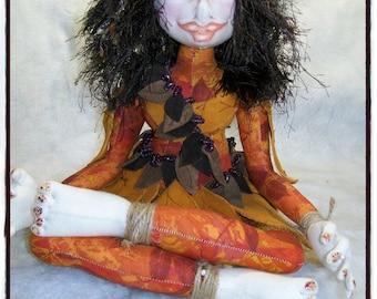 Cloth Doll - Cloth Art Doll - OOAK Doll - Fiber Art Doll - Textile doll - Nymph - Art Doll - Collectible Doll - Soft Doll - Fabric Art Doll