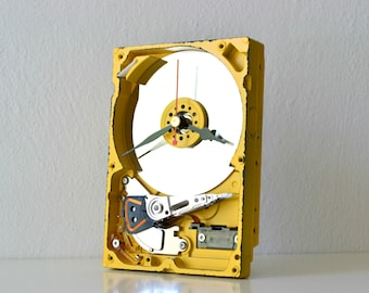 Office Desk Hard Drive Clock - Geeky Nerdy Decor and Housewares - Home and Living Clock - Unique Clock