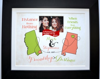 True friendship quote gift,  long distance friends gifts for best friends custom gift for bestfriend true friend best friend long distance