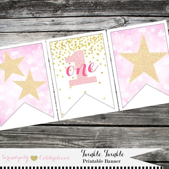 Instant Download: DIY Printable High Chair Banner Twinkle