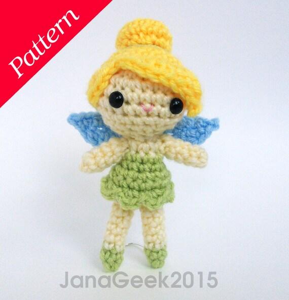Tinker Bell Fairy Doll Amigurumi Crochet Pattern