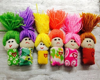 Worry doll / Miniature Doll Matchbox / Message box / Matchbox | Worry-er Taker miniature pocket doll