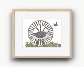 Hedgehog Print, Woodland Animal, Hedgehog Decor, Hedgehog Gift
