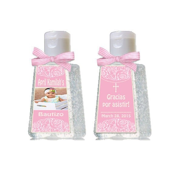 Mini Hand Sanitizer Baptism Girl Baptism Label Favor