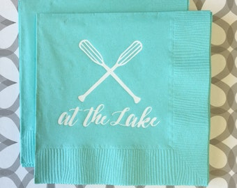 BN1204 - at the lake beverage napkin, 40 ct
