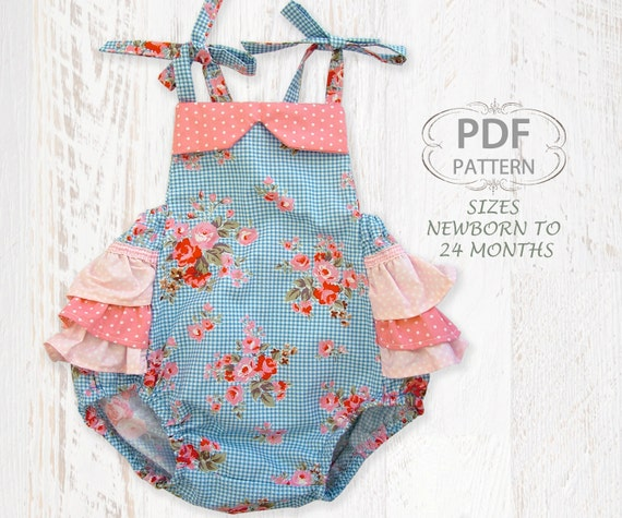 Baby Sewing Pattern For Romper Pdf Sewing Pattern For Baby