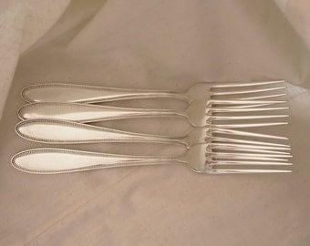 German Silverplate Dinner Forks - Set of 4 - Pearl Pattern 1921