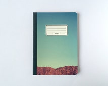 Moon Valley Notebook - Journal - Sketchbook - Blank pages - Lined pages