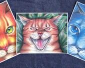 Warriors Cats Firestar Bluestar Tigerclaw Print Set