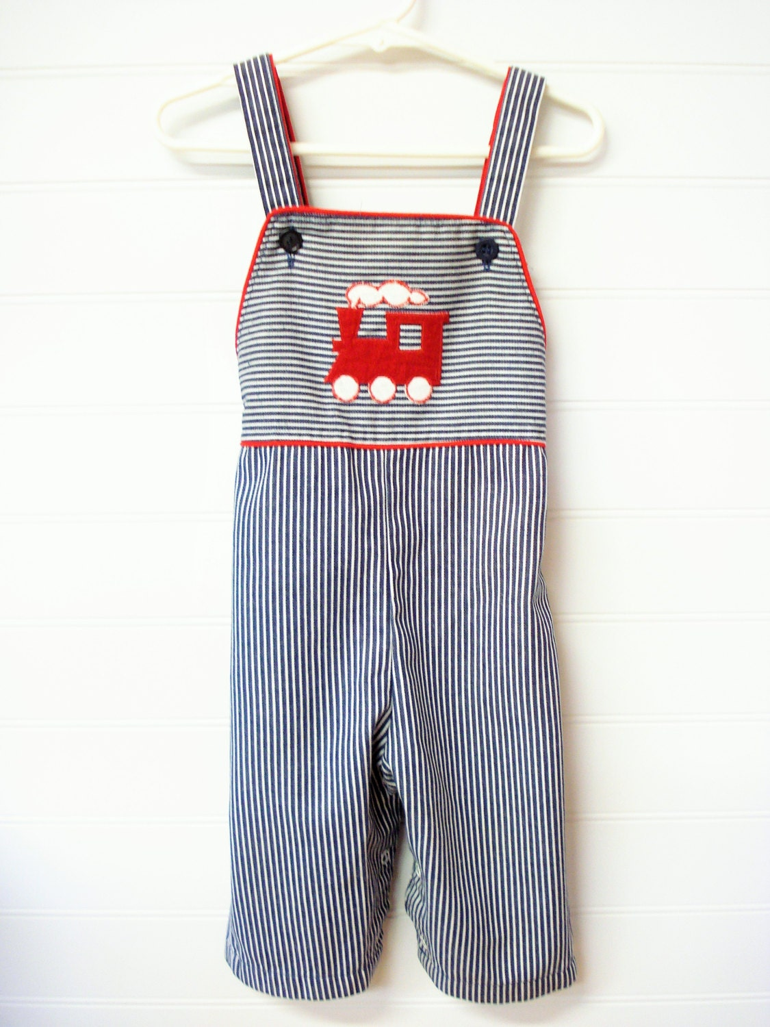 Vintage Baby Clothes/Baby Boy Striped Overalls by ...