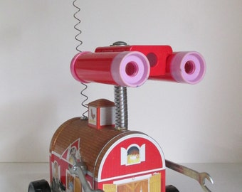DORA - Found object robot sculpture~assemblage