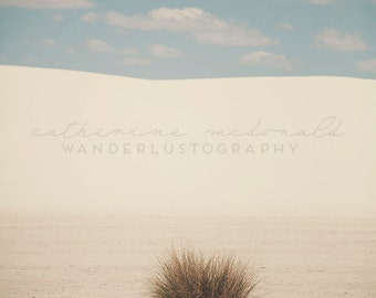 White Sands II - Photographic Print - desert, native, southwest, american, New Mexico, blue, wild, wanderlust, travel, beige
