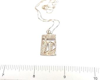 Jewish Religious Jewelry - Modern Minimalist Jewish Jewelry - Judaica Chai Jewelry - Jewish Men Gift - Israel Hebrew Necklace